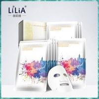 (丽人)LiLiA8周年纪念版正品VC去黄提亮肤色蚕丝补水面膜1盒10片装保湿女男